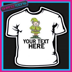 PERSONALISED ELF CHRISTMAS TSHIRT CHILDRENS MENS & LADIES SIZES